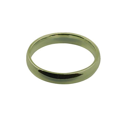 18ct Gold 4mm plain Court shaped Wedding Ring Size X