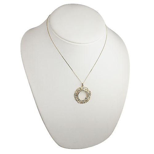9ct Gold 34mm Full Sovereign mount with a diamond cut Bezel Pendant with a curb Chain 18 inches