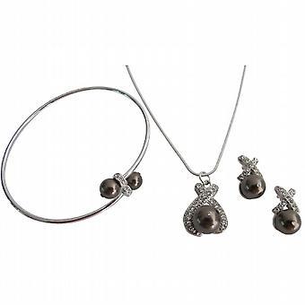 Smykker for ferie gaver Halskjede Øreringer mansjett armbånd brun perler