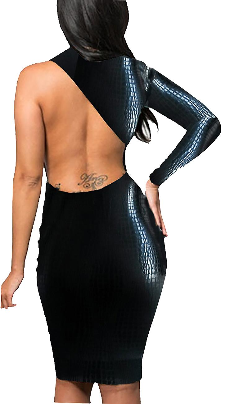 Waooh - Kibe Short dress imitation snake skin