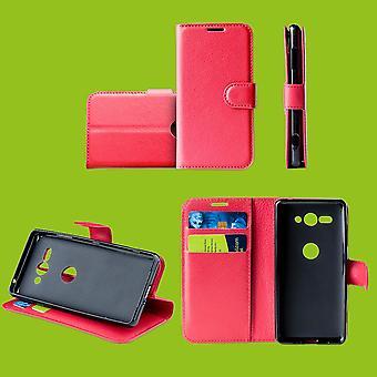 Für Samsung Galaxy S10 Plus G975F 6.4 Zoll Tasche Wallet Kunst-Leder Rot Schutz Hülle Case Cover Etui Neu Zubehör