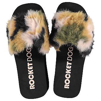Rocket Dog Mens Boom Fur Ladies Wedges