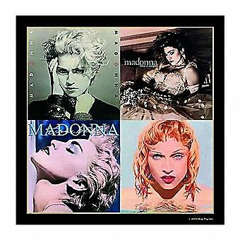 Madonna single drinks mat / coaster (Vers. 1 incl. True Blue)  (ro)