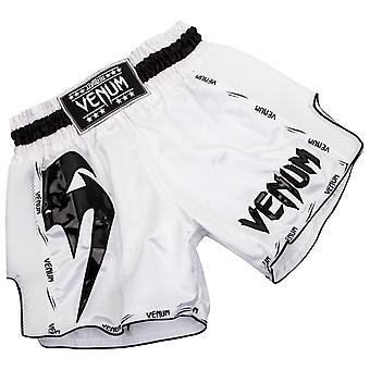 Venum Mens Giant Muay Thai Shorts - White/Black