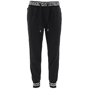 Dolce E Gabbana schwarzer Baumwolle Jogger