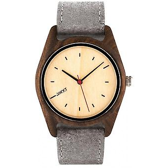 Watch D.W.Y.T DW-00105-1004 - Sequoia wood mixed grey leather
