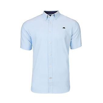 Short Sleeve Signature Oxford Shirt - Sky Blue