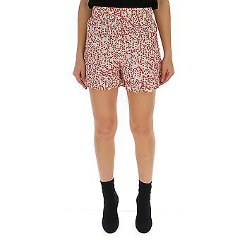 Ganni Red Viscose Shorts