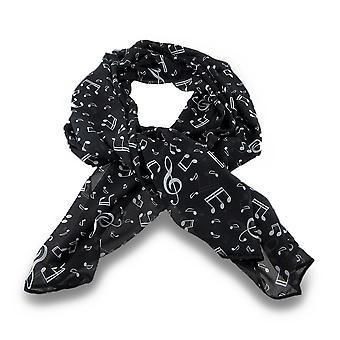 Bianco e nero musica note leggero moda sciarpa 48x56 in.