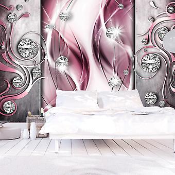 Fototapete - Pink and Diamonds