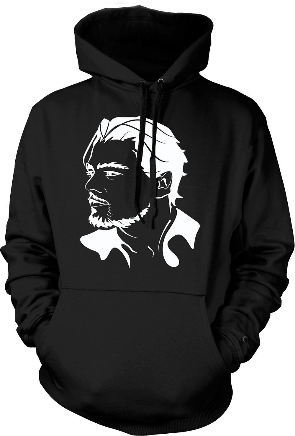 Mens Hoodie - Leonardo Dicaprio porträtt