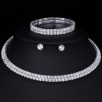 Darcy Double Row Crystal Set