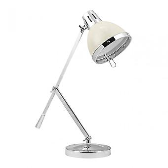 Premier Home Vermont Table Lamp, Powder Coated Metal, Cream