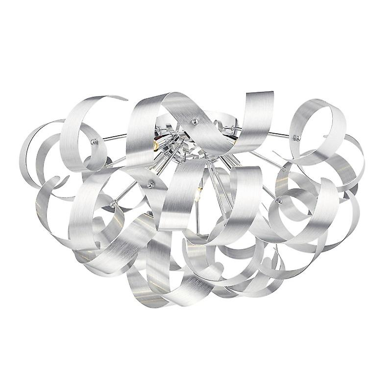 Rawley 5 lumière G9 Flush Brushed Aluminium