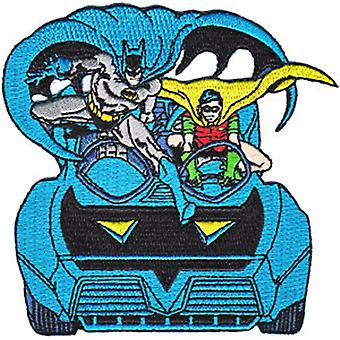 Patch - DC Comic - Batman - Robin & Batmobile Iron On Gifts Toys New p-dc-0044
