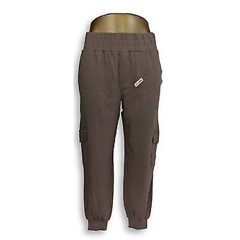 Anybody Women's Petite Pants XSP Cozy Knit Cargo Taupe Beige A310165