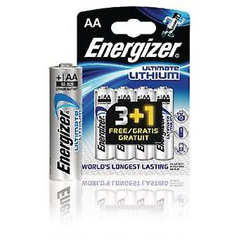 Energizer Lithium Battery Aa 1.5 V Ultimate 4-Promotional Blister (DIY , Electricity)