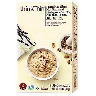 Denken Sie an dünnes Protein & Faser Heißehafermehl Madagaskar Vanille, Mandeln, Pekannüsse