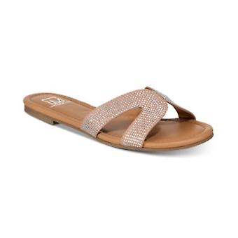 Material Girl Womens Acelina Fabric Open Toe Casual Slide Sandals