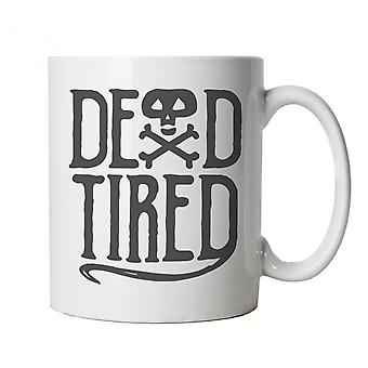 Dead Tired Mug | Halloween Fancy Dress Costume Trick Or Treat | Hallows Eve Ghost Pumpkin Witch Trick Treat Spooky | Halloween Cup Gift
