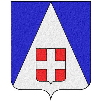 Autocollant Sticker Vinyle Voiture Adhesif Armoirie France Blason Haute Savoie 7