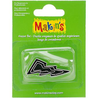 Makin's Clay Cutters 3/Pkg-Lightning Bolt M360-34