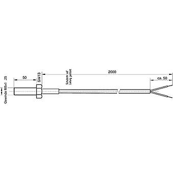 Temperature sensor Sensor type Pt100 ATT.FX.METERING_RANGE_TEMPERATURE-50 up to 400 °C Cable length 2 m Enda