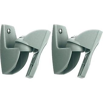 Speaker wall mount Tiltable, Swivelling Distance to wall (max.): 3 cm Vogel´s VLB 500 Silver 1 pair