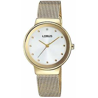 Lorus Womens Gold Strap Large Round Dial RG296JX9 Watch