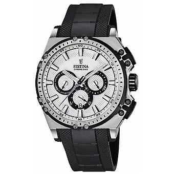 Festina Chronobike Chronograph Mens Silver Dial F16970/1 Watch