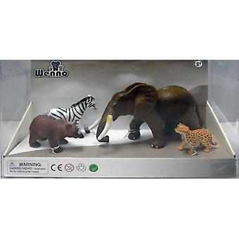 Wenno Box 4 Animals Deluxe Selva (Toys , Dolls And Accesories , Miniature Toys , Animals)