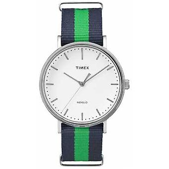 Timex Unisex Weekender Fairfax Navy Green Strap TW2P90800 Watch