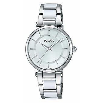 Pulsar Womans Stainless Steel And White PH8191 Watch