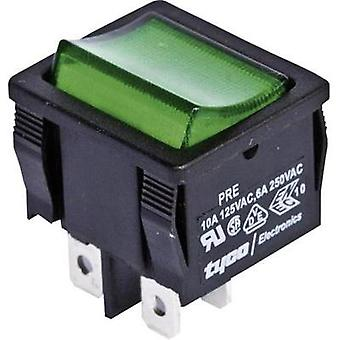 Toggle switch 250 Vac 6 A 2 x Off/On TE Connectivity 1634200-9 latch 1 pc(s)