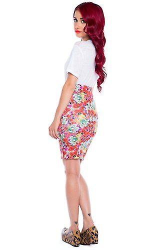 Iron Fist Cruel Intentions Multicoloured Floral Womens Pencil Skirt Flowers