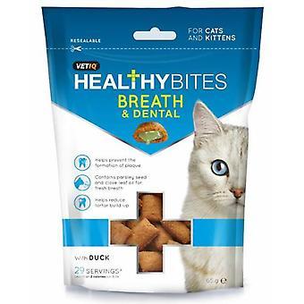 Vet Iq sund bider kat ånde & Dental behandler 65g (Pack af 8)