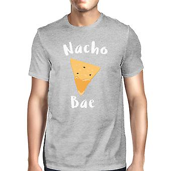 Nocho Bae Men's Grey T-shirt Simple Typography Funny Gifts For Him