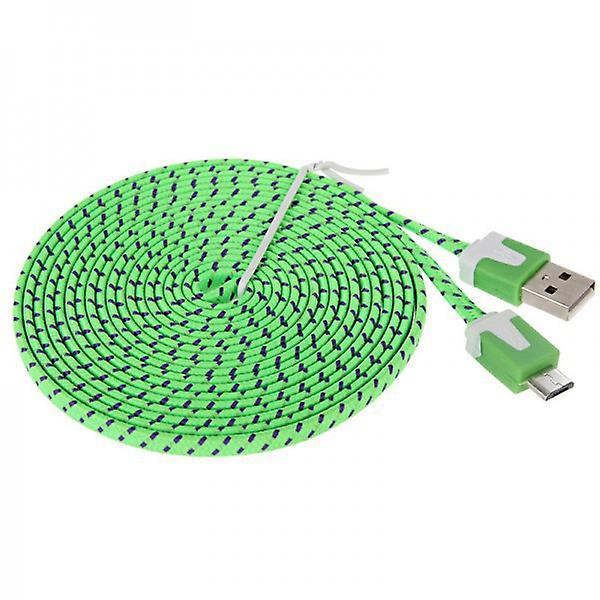 2m USB data and charging cable green for all Smartphone and Tablet micro USB