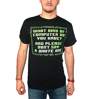 The Big Bang Theory What Kind Of Computer? Quote Men's Black T-shirt