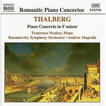 S. Thalberg - Sigismund Thalberg: Piano Concerto in F Minor [CD] USA import