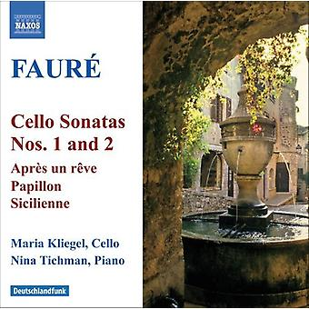 G. Faure - Faur : Cello Sonatas Nos. 1 & 2; Apr S Un R Ve; Papillon; Sicilienne [CD] USA import
