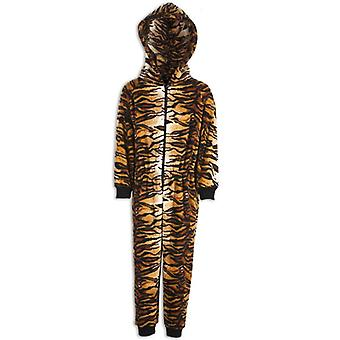 Camille Childrens Unisex Tiger Print All In One Pyjama Onesie