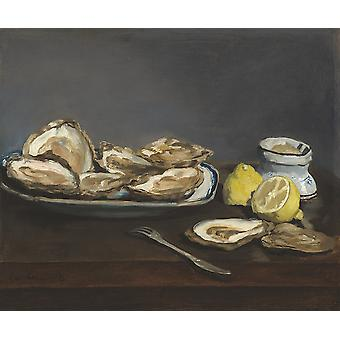 Edouard Manet - Oysters Poster Print Giclee