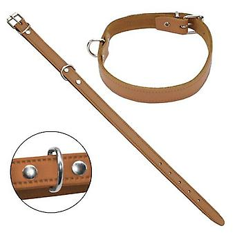 Petpall Collar Cuero Liso 30 Cm Natural (Dogs , Walking Accessories , Collars)
