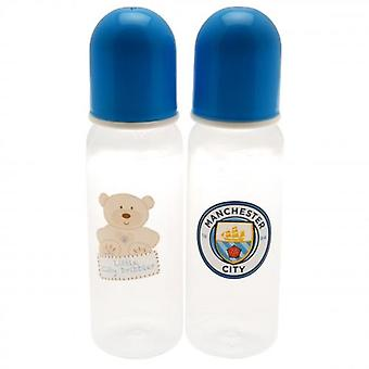 Manchester City 2pk Feeding Bottles