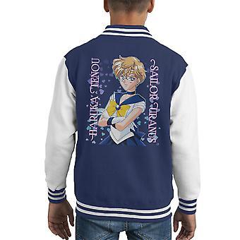 Sailor Uranus Haruka Tenou Moon Kid's Varsity Jacket