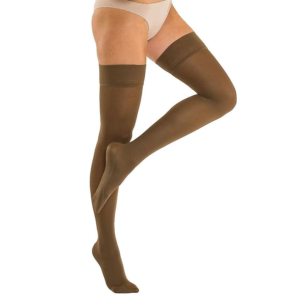 Solidea Marilyn Therapeutic Compression Thigh Highs Ccl2 [Style 324B8] Blu Scuro (Dark Navy)  XL