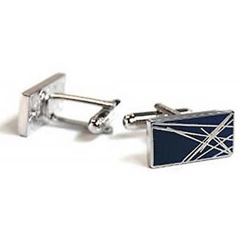 Tyler and Tyler Diffusion Cufflinks - Navy