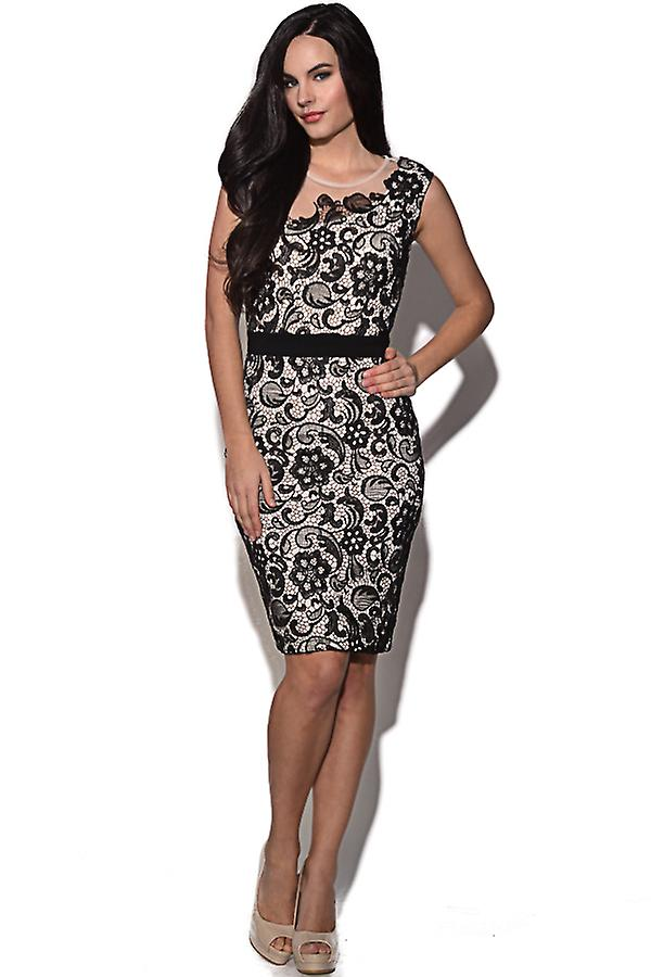 Paper Dolls Lace Overlay Embellished Dress