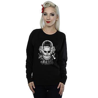 Suicidio Escuadrón Joker y negro sonrisa sudadera mujer